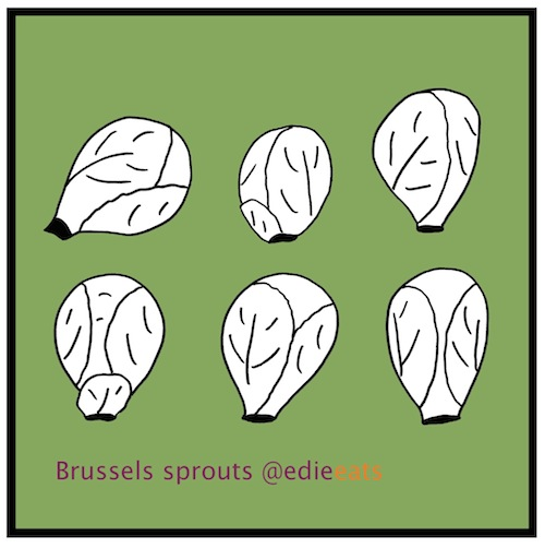 Brussels sprouts by Edie eats -  illustration by Edith Dourleijn