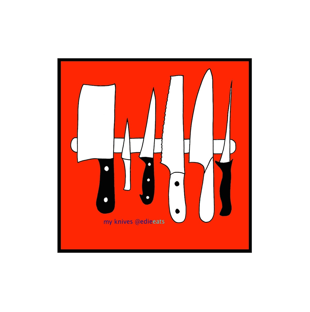 KNIVES illustration by EDIE EATS by Edith Dourleijn