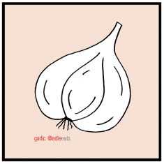 illustration GARLIC - EDIE EATS Food Blog by Edie Dourleijn