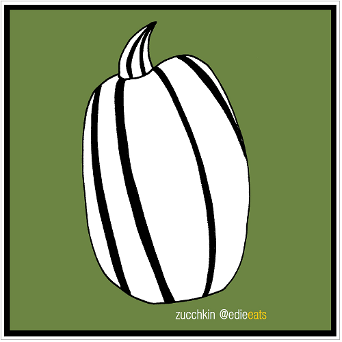 ZUCCHINI illustration and recipe by EDIE EATS Food Blog by Edith Dourleijn