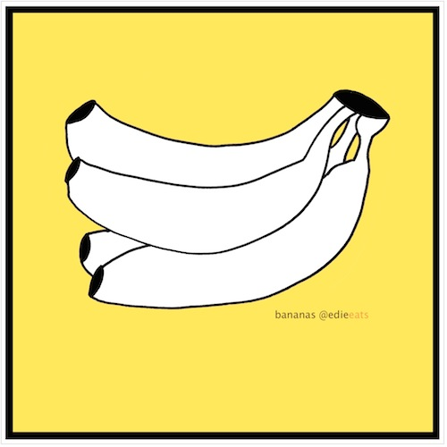 BANANAS illustration and recipe by EDIE EATS Food Blog by Edith Dourleijn
