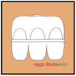 box of eggs - illustration by edie eats food blog Edith Dourleijn