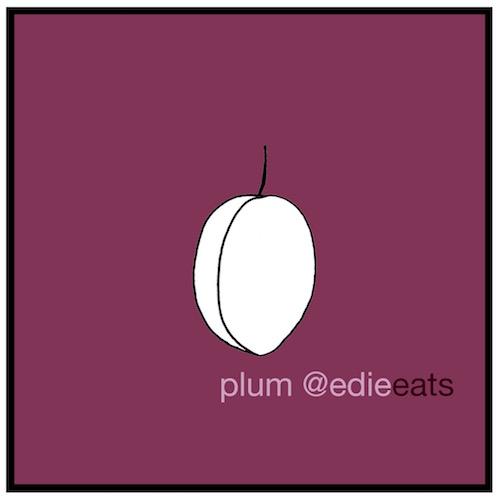 Recipe Italian plum cake - plum illustration by EDIE EATS food blog by Edith Dourleijn