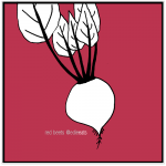 RED BEETS illustration and recipe by EDIE EATS Food Blog by Edith Dourleijn