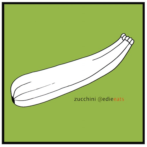 zucchini -illustration EDIE EATS by Edith Dourleijn